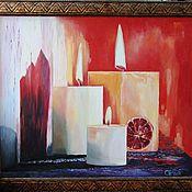 Картины и панно ручной работы. Ярмарка Мастеров - ручная работа Вечер у камина. Handmade.
