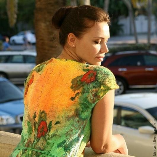 """Платья ручной работы. Ярмарка Мастеров - ручная работа. Купить платье ручной работы  """"Летний сад"""". Handmade. Разноцветный"""
