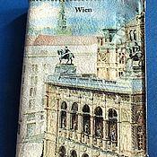 """Канцелярские товары ручной работы. Ярмарка Мастеров - ручная работа """"Вена"""" Кожаная обложка для паспорта(автодокументов) Декупаж. Handmade."""