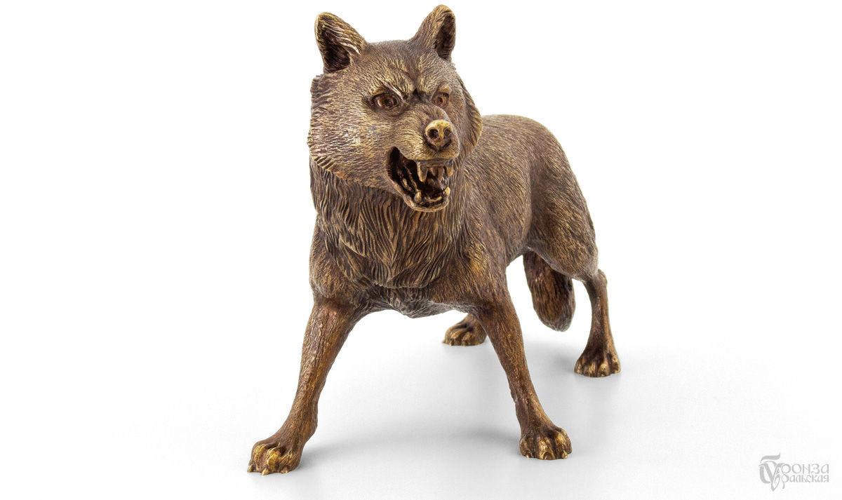 Статуэтки ручной работы. Ярмарка Мастеров - ручная работа. Купить Волк. Handmade. Литье, животные, сувениры и подарки, бронзовая статуэтка