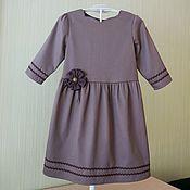 Работы для детей, ручной работы. Ярмарка Мастеров - ручная работа Детское платье с тесьмой вьюн. Handmade.
