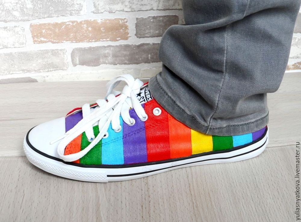 f9804b389ec3 ... new zealand converse shoes hand painted rainbow shoes custom sneakers.  made 143ee 489a2 ...