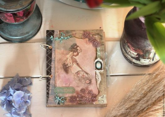 """Персональные подарки ручной работы. Ярмарка Мастеров - ручная работа. Купить Блокноты из серии """"Балерина"""". Handmade. Розовый, подарок, скрапклубсочи"""
