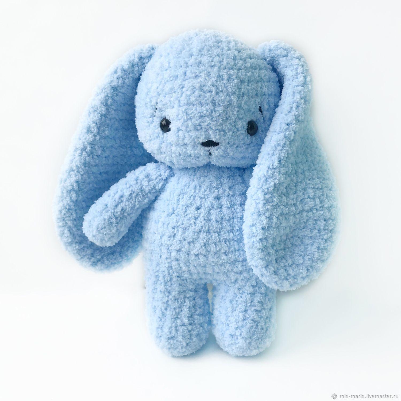 Заяц с длинными ушами вязаный, Мягкие игрушки, Санкт-Петербург,  Фото №1