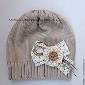 """Работы для детей, ручной работы. Ярмарка Мастеров - ручная работа Вязаная шапочка для девочки """"Бохо"""". Handmade."""