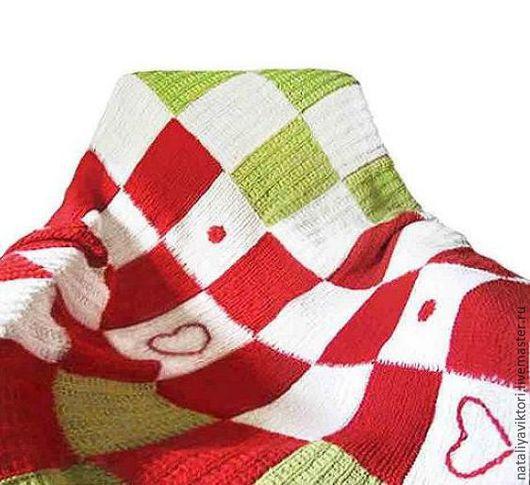 Пледы и одеяла ручной работы. Ярмарка Мастеров - ручная работа. Купить Детский плед, связанный спицами.. Handmade. Красный, зеленый