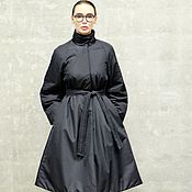 Одежда handmade. Livemaster - original item Coat insulated Black Panther. Handmade.