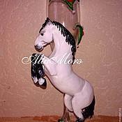 """Свадебный салон ручной работы. Ярмарка Мастеров - ручная работа Бокалы """"Белые кони"""". Handmade."""