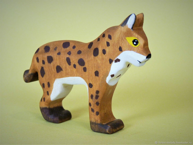 Деревянная игрушка Рысь, Вальдорфские куклы и звери, Новосибирск,  Фото №1