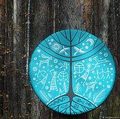 Музыкальные инструменты handmade. Livemaster - original item Three of the world. Tambourine Vedic turquoise.. Handmade.