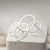 Серьги-пусеты ручной работы. Ярмарка Мастеров - ручная работа Воздушный поцелуй (серьги пусеты). Handmade.