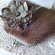Сумки и аксессуары handmade. Livemaster - original item Mini cosmetic bag, purse mink fur with clasp. Handmade.