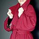"""Верхняя одежда ручной работы. Заказать пальто-кокон  на синтепоне """"Красное """". Лана КМЕКИЧ de Marlen (lanakmekich). Ярмарка Мастеров."""