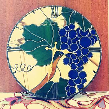 """Для дома и интерьера ручной работы. Ярмарка Мастеров - ручная работа Часы: """"Виноградный день"""". Handmade."""