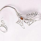Украшения handmade. Livemaster - original item Cuff made of silver with stone. Handmade.