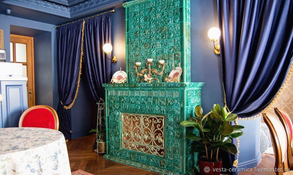Fireplace 'malachite box', Fireplaces, Moscow,  Фото №1