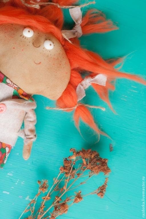 """Ароматизированные куклы ручной работы. Ярмарка Мастеров - ручная работа. Купить """"Морковка"""" интерьерная кукла. Handmade. Рыжий, смешная кукла"""
