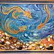 """Животные ручной работы. Ярмарка Мастеров - ручная работа. Купить Картина """"Три желания"""". Handmade. Живопись, ракушки, живопись маслом"""