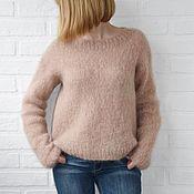 Одежда ручной работы. Ярмарка Мастеров - ручная работа Мохеровый свитер. Handmade.