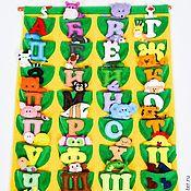 Куклы и игрушки handmade. Livemaster - original item alphabet felt