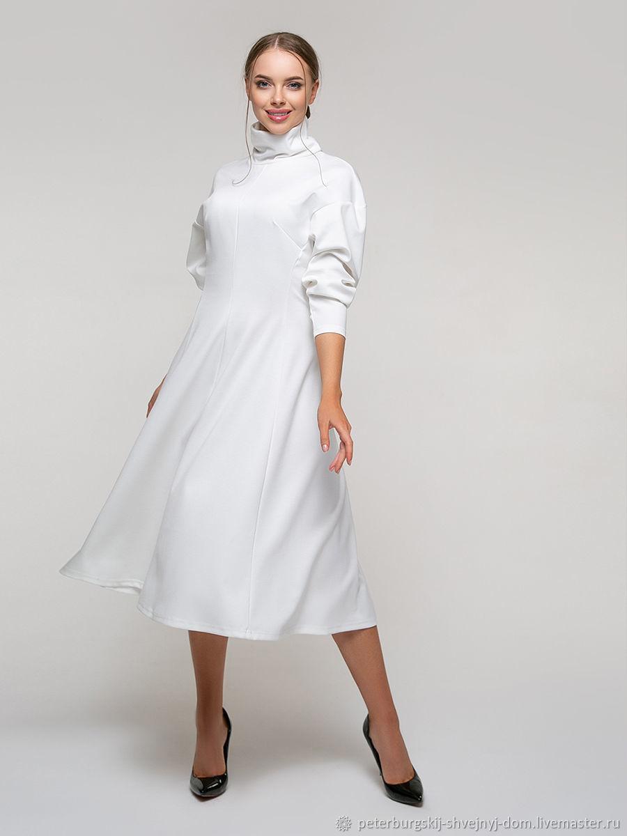 Платье полуприталенное из джерси, Платья, Санкт-Петербург,  Фото №1
