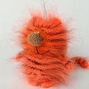 """Куклы и игрушки ручной работы. Ярмарка Мастеров - ручная работа Кот """"Тигр"""" ( Вязаные игрушки коты / тигры). Handmade."""