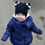 Шапки ручной работы. Ярмарка Мастеров - ручная работа Шапка с бантиками Шапка для девочки на осень Шапка осенняя. Handmade.