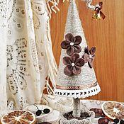 Подарки к праздникам ручной работы. Ярмарка Мастеров - ручная работа Кофейная елочка из джутового шнура. Handmade.