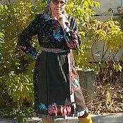 Платья ручной работы. Ярмарка Мастеров - ручная работа Платье  лоскутное тёплое бохо. Handmade.