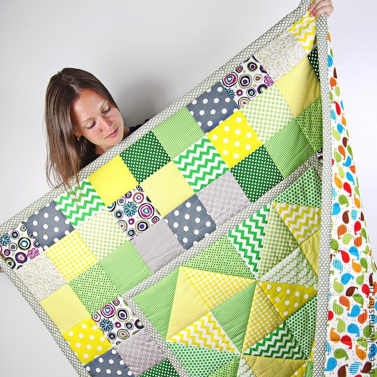 как сшить детское одеяло из лоскутков 10 10