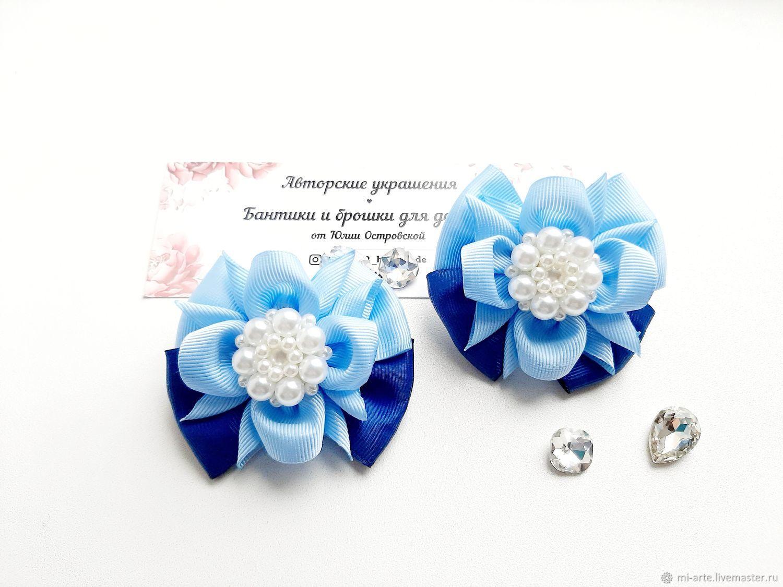 Синие бантики на резинке, Украшения, Тюмень, Фото №1