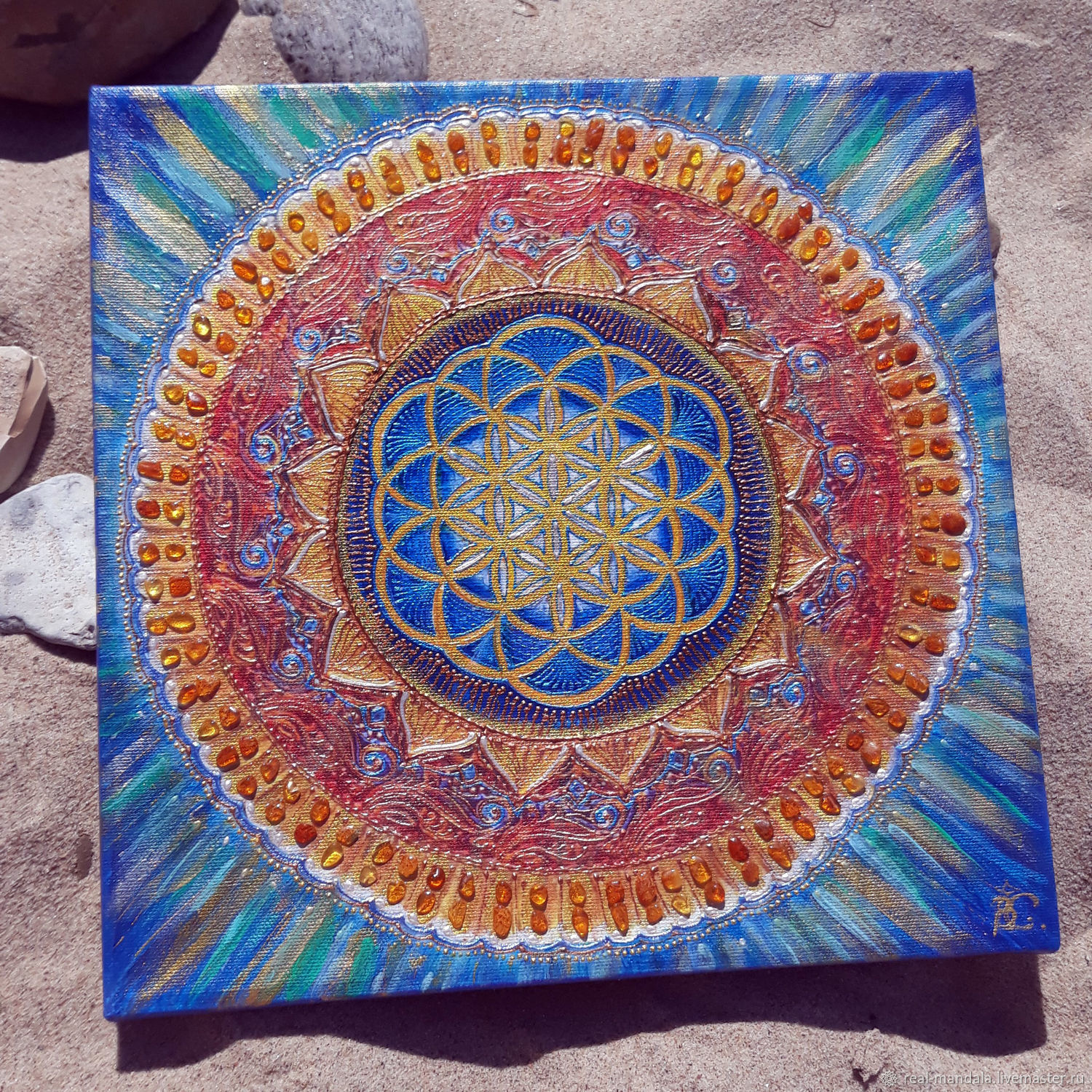 Reproduction of the Mandala Flower of life with manual drawing, Pictures, Kaliningrad,  Фото №1