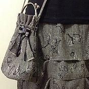 Одежда ручной работы. Ярмарка Мастеров - ручная работа Авторская юбка. Единственный экземпляр. Серенькая с защипами.. Handmade.