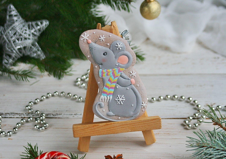 Мышка в шарфике, Пряники, Москва,  Фото №1