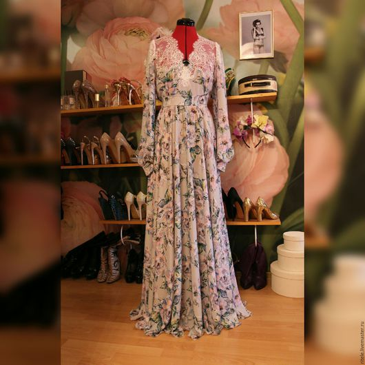 """Платья ручной работы. Ярмарка Мастеров - ручная работа. Купить Платье  """"Princess"""". Handmade. Вечерний наряд, платье, шёлк"""