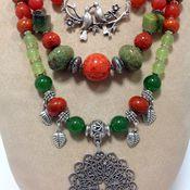 Украшения handmade. Livemaster - original item Necklace made of natural materials in the Oriental style garden.. Handmade.