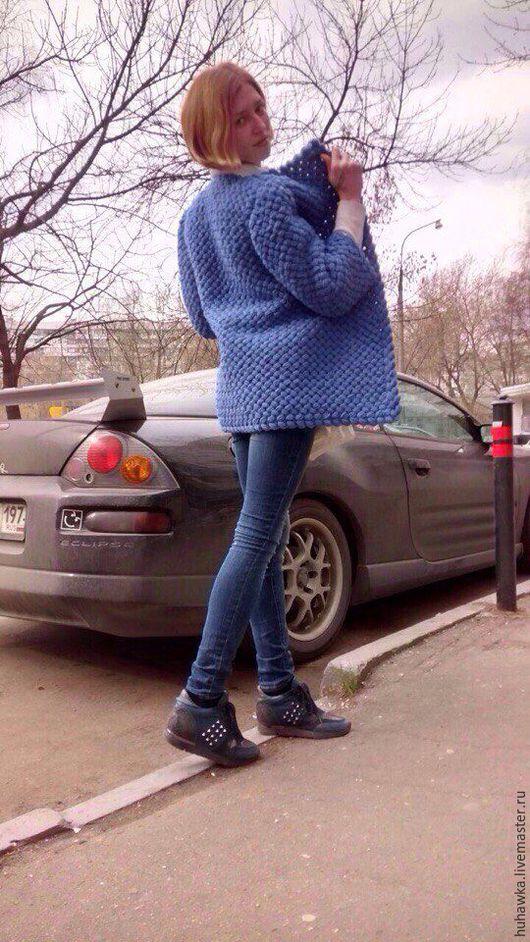 """Кофты и свитера ручной работы. Ярмарка Мастеров - ручная работа. Купить кардиган пальто вязаный крючком """"ШИШЕЧКИ"""". Handmade. Однотонный"""