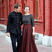 Одежда ручной работы. Ярмарка Мастеров - ручная работа Платье  длинное из шерсти Малахитовая шкатулка. Handmade.