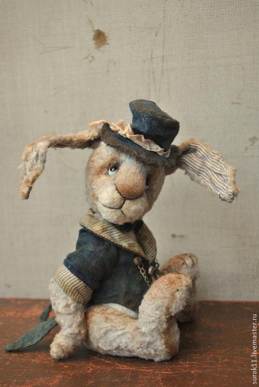 Мишки Тедди ручной работы. Ярмарка Мастеров - ручная работа. Купить Филлип. Handmade. Серый, плюшевая игрушка, авторская игрушка