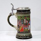 Винтаж handmade. Livemaster - original item Vintage beer mug with lid. Handmade.