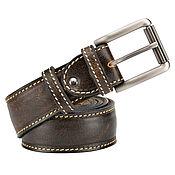 handmade. Livemaster - original item Hugo leather belt (brown exclusive). Handmade.