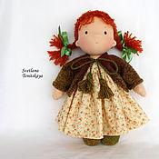 Куклы и игрушки ручной работы. Ярмарка Мастеров - ручная работа Пуговка. Игровая текстильная кукла. Handmade.