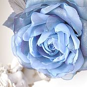 handmade. Livemaster - original item FABRIC FLOWERS. Chiffon rose