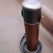 Сумки и аксессуары handmade. Livemaster - original item Tube leather, protective, for weapon optics. Handmade.