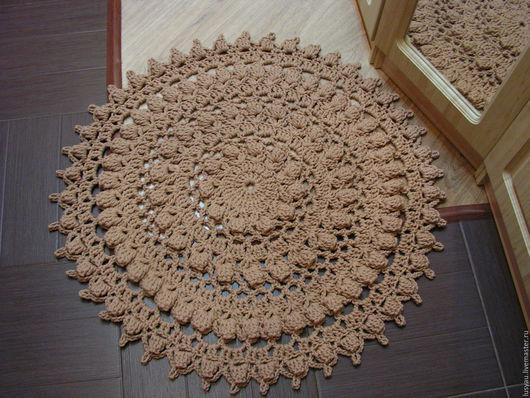 """Текстиль, ковры ручной работы. Ярмарка Мастеров - ручная работа. Купить Ковер вязаный ручной работы """"Сливочная карамель"""". Handmade."""
