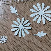 Материалы для творчества handmade. Livemaster - original item Cutting scrapbooking Daisy composite, cardboard design. Handmade.
