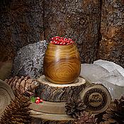 Посуда handmade. Livemaster - original item Glass natural wood Wooden glass Siberian Elm #C13. Handmade.