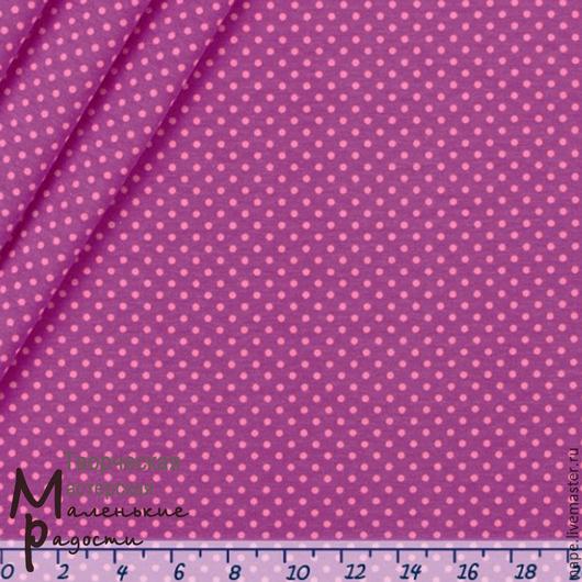 Джерси точки розовые на ежевичном В наличии отрез 30 на 75 см
