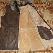 Одежда ручной работы. Ярмарка Мастеров - ручная работа Жилет-дубленка из натурального меха. Handmade.