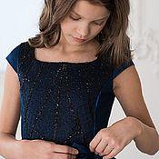 Платья ручной работы. Ярмарка Мастеров - ручная работа Платье черничного цвета. Handmade.